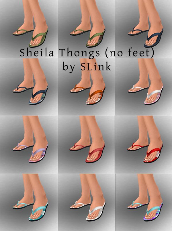 Sheila thongs no feet web