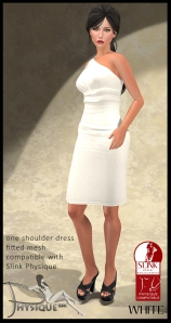 One Shoulder Dress White