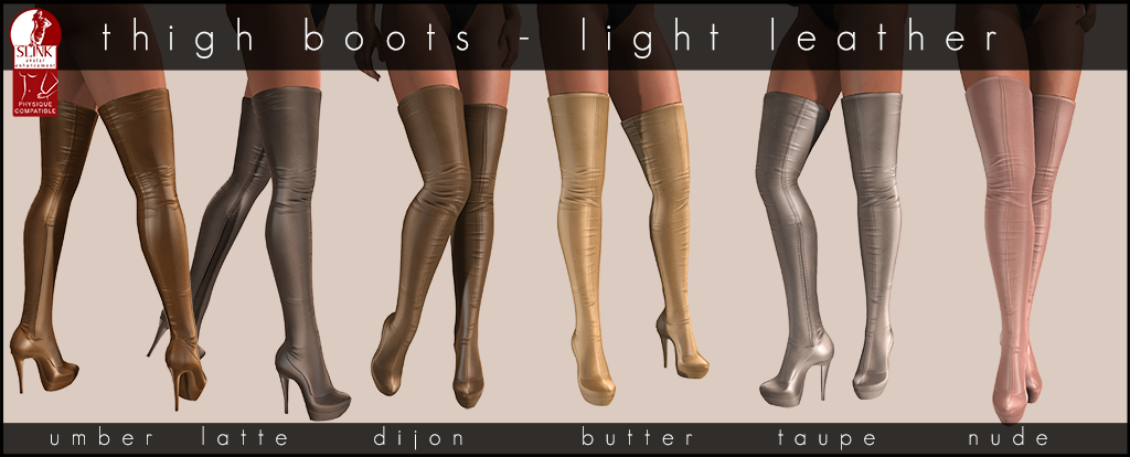 Thighboots Light Leather