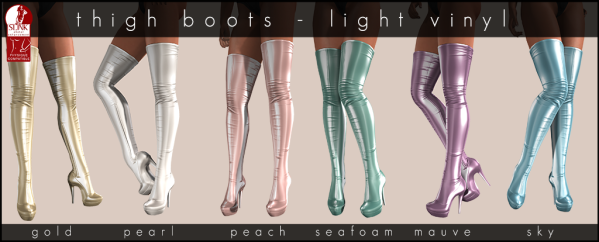 Thighboots Light vinyl