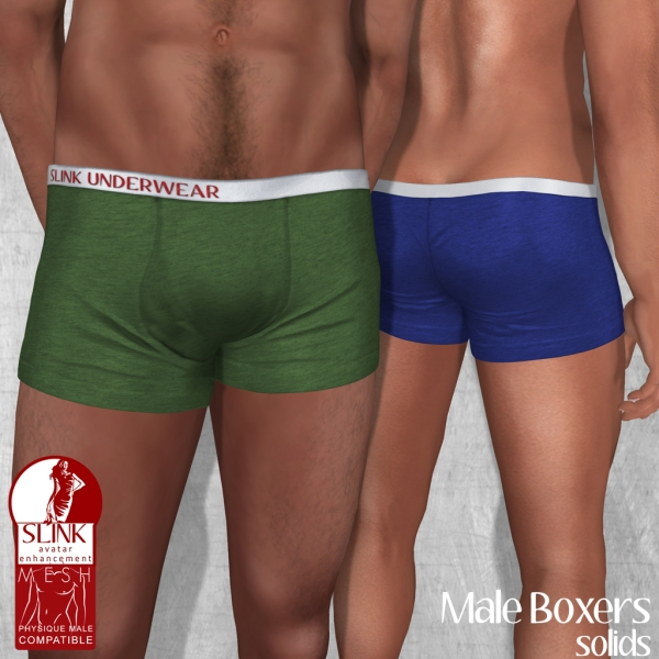 Slink - Male Boxers - Solids Ad